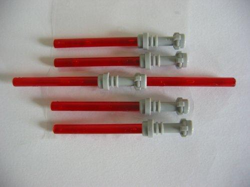 LEGO STAR WARS - 4 rote Laserschwerter Lichtschwerter