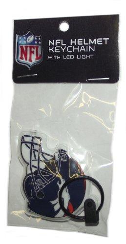 Nfl Denver Broncos Helmet Keychain With Led Light Keychain