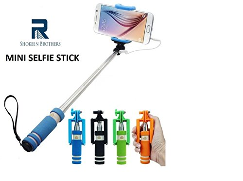 shokeen brothers mini selfie stick with aux available at amazon for. Black Bedroom Furniture Sets. Home Design Ideas