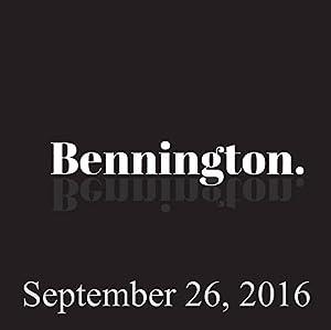 Bennington, September 26, 2016 Radio/TV Program