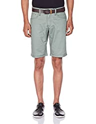 Celio Men's Cotton Shorts (3596653445017_BODOT_38_Green)