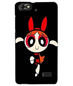 EU4IA Power Puff Girl Pattern MATTE FINISH 3D Back Cover Case For Huawei Honor 4c - D421