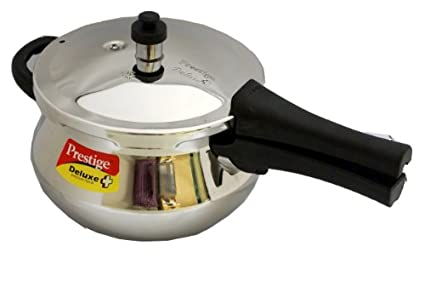 Prestige Deluxe Plus Mini Handi Stainless Steel 3.3 L Pressure Cooker (Induction Bottom, Outer Lid)