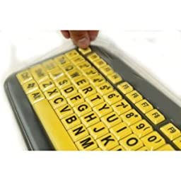 Biosafe Anti Microbial Keyboard Cover for EZ Eyes Large Print Keyboard - Protect From Dirt, Dust, Liquids and Contaminants, Fights Microbes and Germs which may Adhere to Typing Finger Tips - Clean Solution for Laboratories, Hospitals, and Clean Rooms - Th