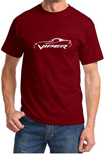 2007-10-dodge-viper-srt10-classic-outline-design-tshirt-xl-maroon