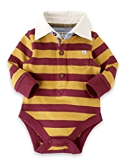 Autograph Pure Cotton Striped Rugby Bodysuit