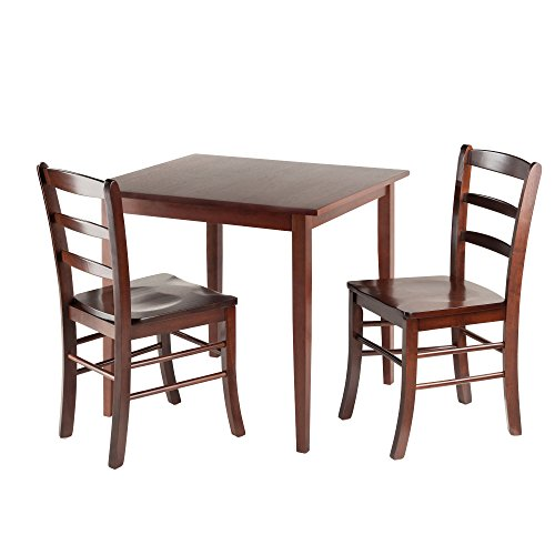 Winsome Wood Groveland Square Dining Table with 2 Chairs, 3-Piece