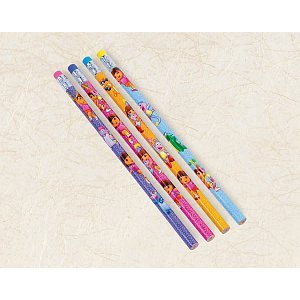"Amscan Dora The Explorer Pencil Assortment Favor for Parties and Celebrations, 7-1/2"", Blue/Green/Teal/Purple"