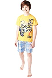 Pure Cotton Bart Simpson Short Pyjamas
