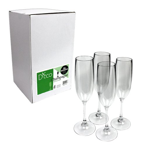 Unbreakable-Champagne-Glasses-100-Tritan-Shatterproof-Reusable-Dishwasher-Safe-Set-of-4-by-DEco