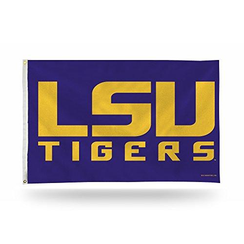 NCAA LSU Tigers Banner Flag 3-Foot by 5-Foot