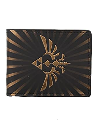 Nintendo Zelda: Black and Gold Bird Triforce Logo Wallet (Electronic Games) [Importación Inglesa]