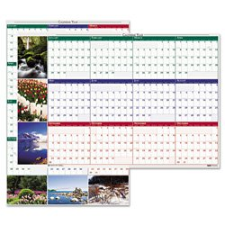 House Of Doolittle 393 Earthscapes Nature Scene Reversible/Erasable Yearly Wall Calendar, 24 X 37, 2015