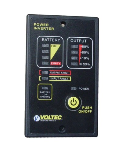 Voltec 10-00486 Inverter Remote Control, 1000 - 3000-Watt, Black