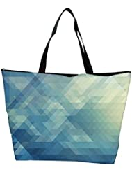 Snoogg Abstract Blue Pattern Designer Waterproof Bag Made Of High Strength Nylon - B01I1KKECO