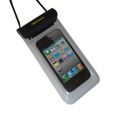 TrendyDigital WaterGuard Plus Waterproof Case with Padding for Apple iPhone 4 and Droid, White