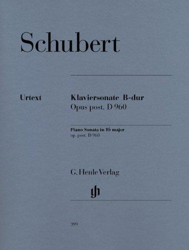シューベルト: ピアノ・ソナタ 変ロ長調 D 960/ヘンレ社原典版