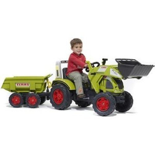 Claas Ares 697 ATZ Front Loader Ride on Pedal Tractor with Trailer