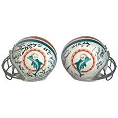 1972 Miami Dolphins Signed Miami Dolphins Riddell Authentic NFL Helmet with 25+... by Sports Memorabilia