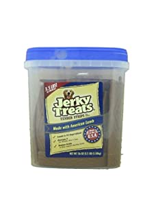 Jerky Treats Tender Strips Dog Snacks Made with American Lamb 3.5lb
