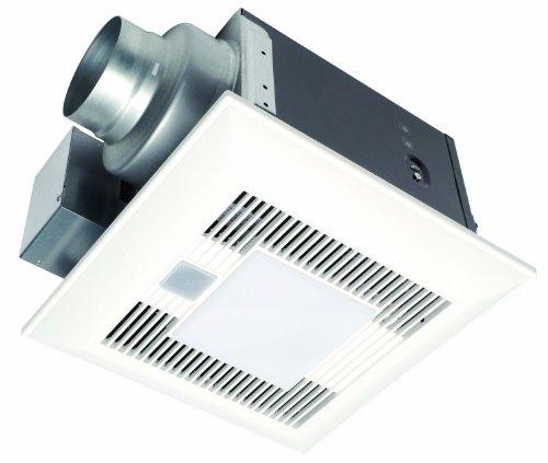 Panasonic Fv-08Vkml3 Whisper White-Lite 80 Cfm Ceiling Mounted Ventilation Fan With Dc Motor, Variable Speed Controls, Motion Sensor, And Light, White