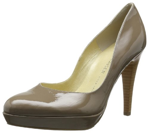 Peter Kaiser Womens NIXE Closed Gray Grau (TAUPE CRAKLE) Size: 3 (36 EU)