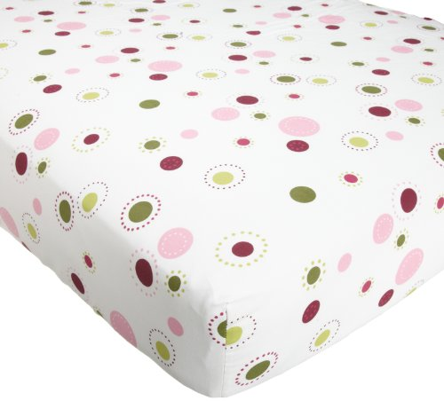 Lambs & Ivy Raspberry Swirl Sheet front-965025