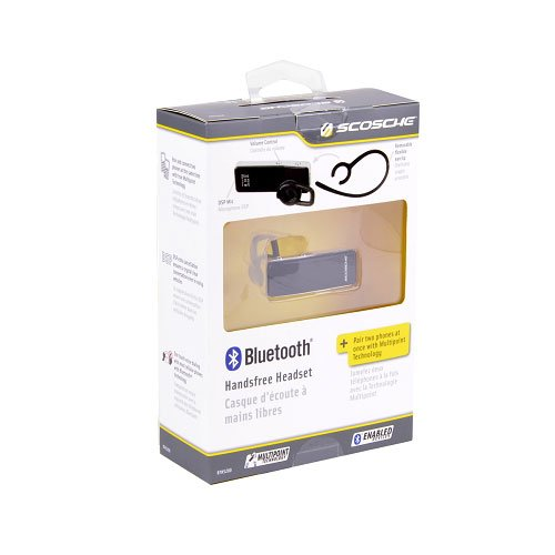 Scosche Bths200 Jabberjaw Ii Bluetooth Headset - Bluetooth Headset - Retail Packaging - Black