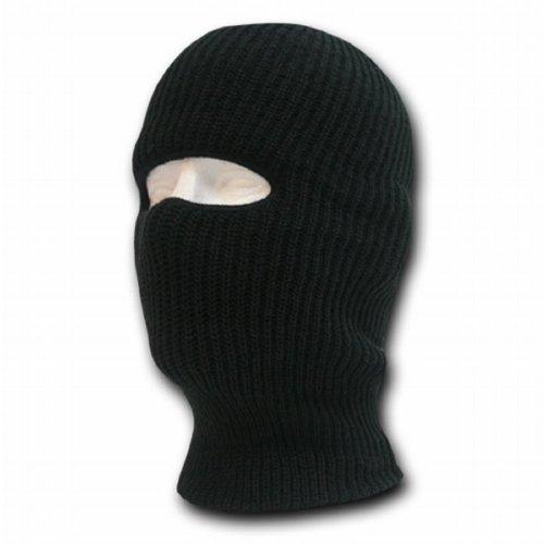 HOLE KIDS SKI MASK WINTER HAT BLACK KNITTED SAS BALACLAVA US HATS