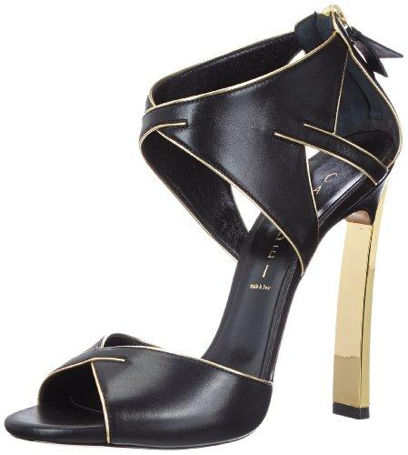 CASADEI 5035N, Sandali donna, Nero (Black - Schwarz (Nero+Oro)), 36