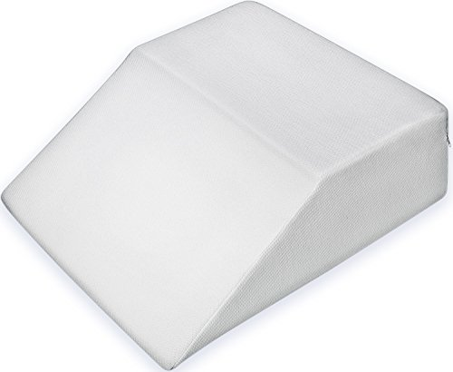 pharmedoc bed wedge pillow w washable case premium therapeutic support for sleeping back u0026 leg pain layered memory foam promotes spinal u0026 digestive
