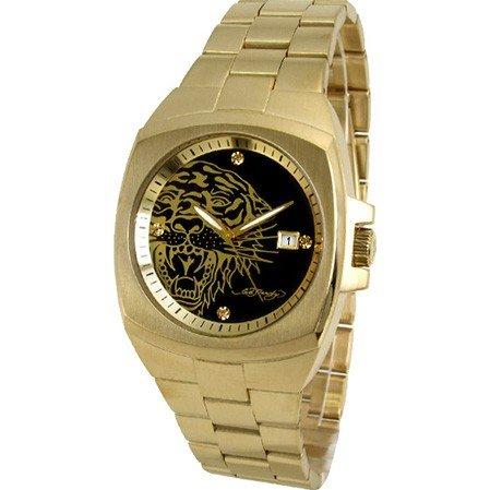 Ed Hardy Men's KS-GG Kool Steel Gold Watch