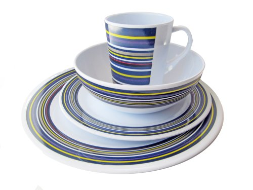OL Pro OL203 Twilight Melamine Table Set (16 Pieces) from Olpro