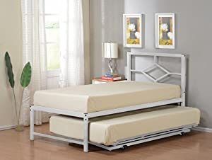 Amazon Com Twin Size Metal Hirise Day Bed Frame With