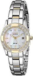 Citizen Eco-Drive Women's EW1824-57D Regent Diamond-Accented Watch