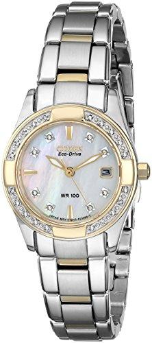 "Citizen Women'S Ew1824-57D Eco-Drive ""Regent"" Two-Tone Diamond-Accented Watch"