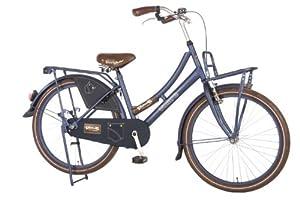 24 zoll oma retro blau mit gep cktr ger vorne und hinten m dchen kinder fahrrad. Black Bedroom Furniture Sets. Home Design Ideas