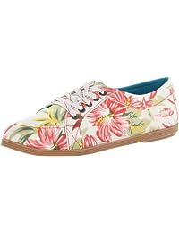 Blowfish Women's Gesso Off White Honolulu Print Sneaker