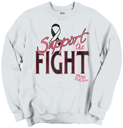 Support The Fight Breast Cancer Awareness Womens Clothes Gift Sweatshirt