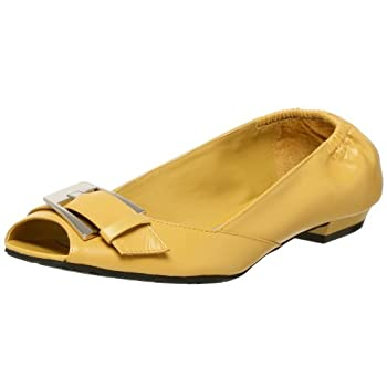BCBGirls Women's Piper Peep Toe Flat