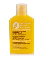 Australian Native Botanicals Moisturising, Revitalising Shampoo for Dry + Damaged Hair 50ml