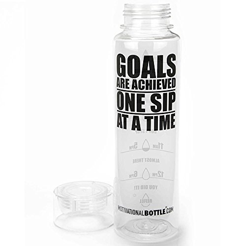 Clear Motivational Water Bottle® (Motivational Sports Bottle compare prices)