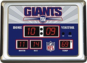 Buy Team Sports America New York Giants Scoreboard Alarm Clock by Evergreen Enterprises, Inc.