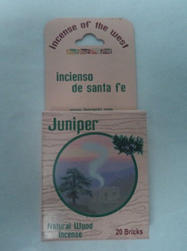 Inciensio Sante Fe: Juniper Wood 20 Incense Bricks (Cone Incense Campfire compare prices)