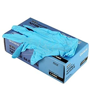 Blue Nitrile Disposable Gloves - Large - L&S Engineers by L&S Engineers