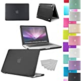 "LOVE MY CASE / NEW BLACK Rubberized See-Through Hard Case Cover for Apple Macbook Pro 13"" 13.3"" A1278"