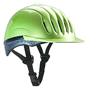 Ultra-Lite Equi-Lite Fashion Color Helmet with Dial-Fit-System, Citron, Medium