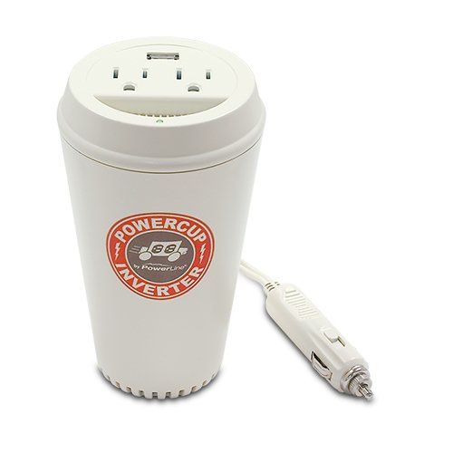 PowerLine PowerCup 200/400 Watt Mobile Inverter with USB Power Port 90309