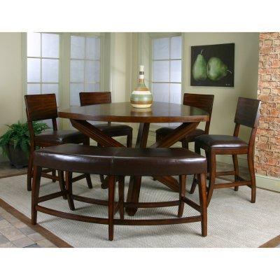 Merveilleux Cramco Shiraz 6 Piece Counter Height Dining Set With Bench