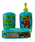Scooby Doo Toothbrush, Soap/Lotion Pump, and Soap Tray Bathroom Set - Scooby Doo Bathroom Set (3pk)
